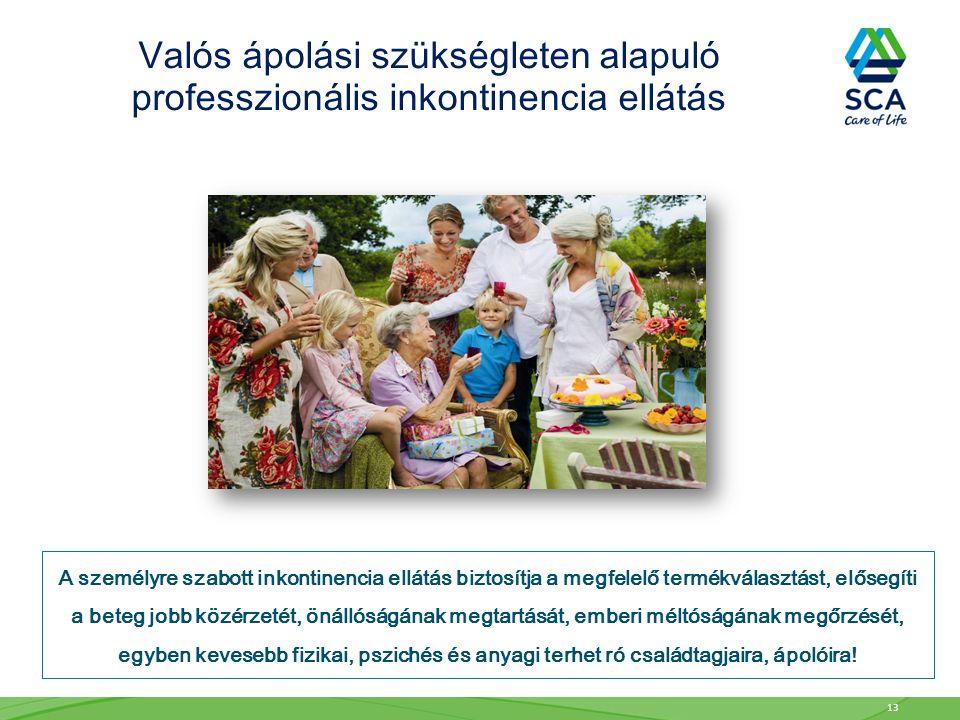 A személyre szabott inkontinencia ellátás biztosítja a megfelelő termékválasztást, elősegíti a beteg jobb közérzetét, önállóságának megtartását, emberi méltóságának megőrzését, egyben kevesebb fizikai, pszichés és anyagi terhet ró családtagjaira, ápolóira.