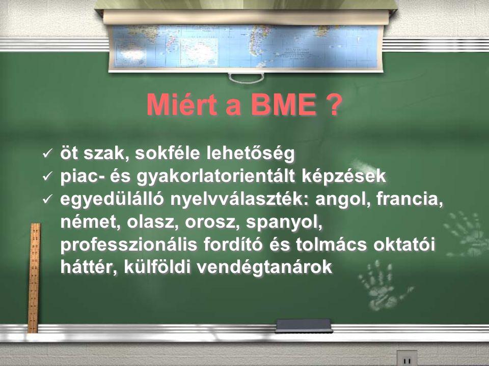 Miért a BME .