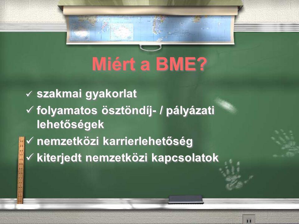 Miért a BME.