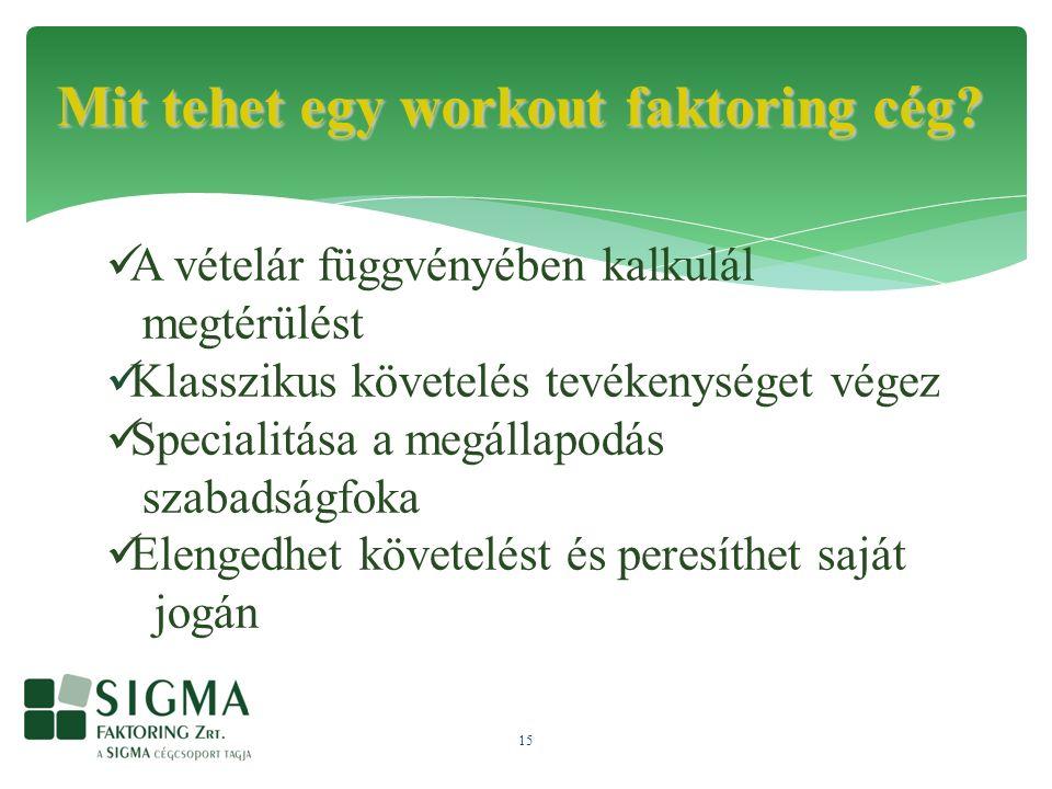 15 Mit tehet egy workout faktoring cég.