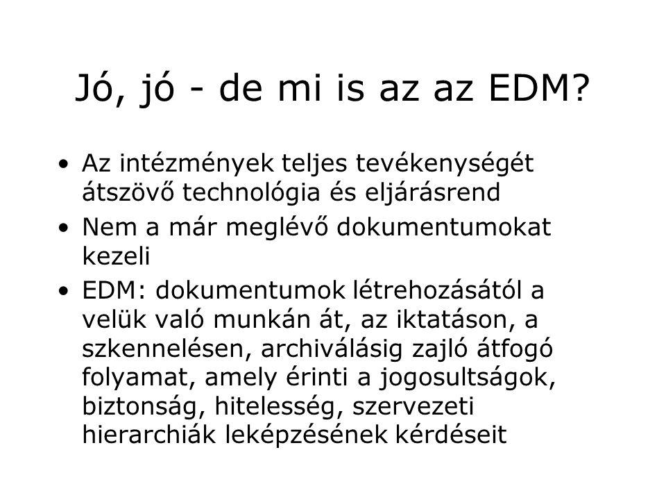 Jó, jó - de mi is az az EDM.