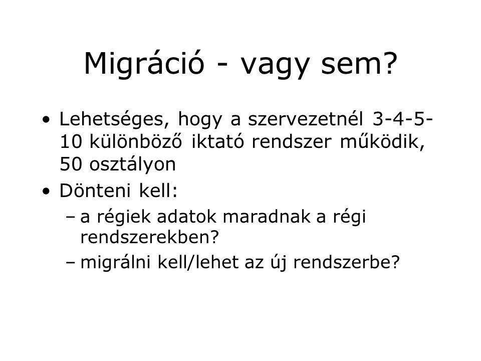Migráció - vagy sem.