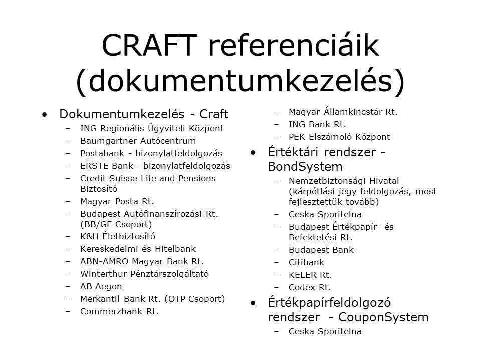 A banki dokumentumkezelés támogatása A Cardinal CRAFT rendszere