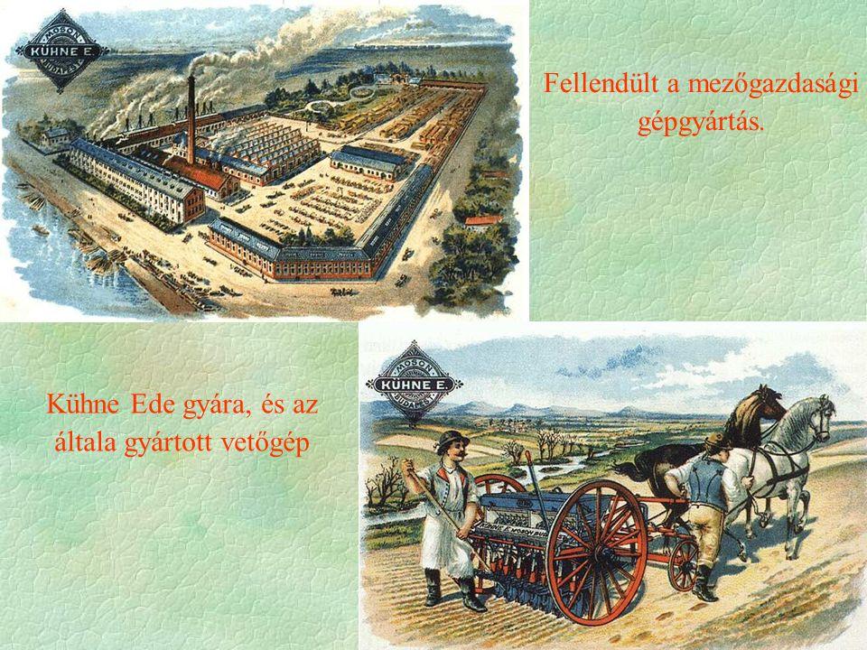 Fellendült a mezőgazdasági gépgyártás. Kühne Ede gyára, és az általa gyártott vetőgép