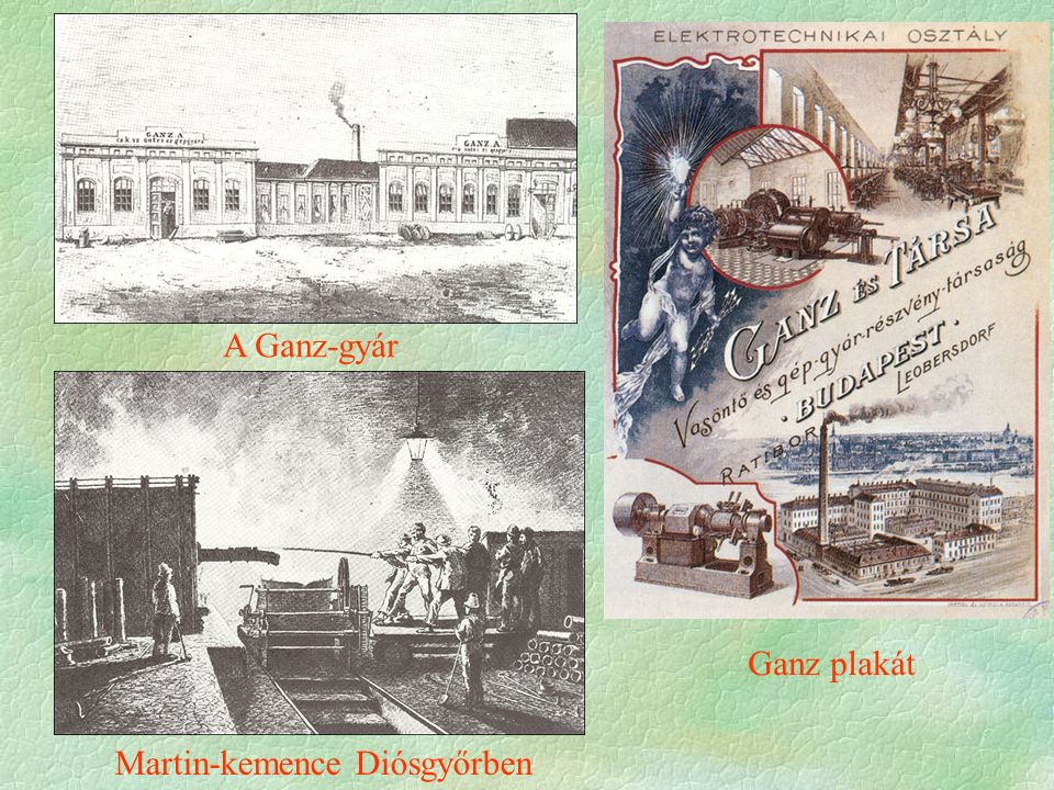 A Ganz-gyár Ganz plakát Martin-kemence Diósgyőrben