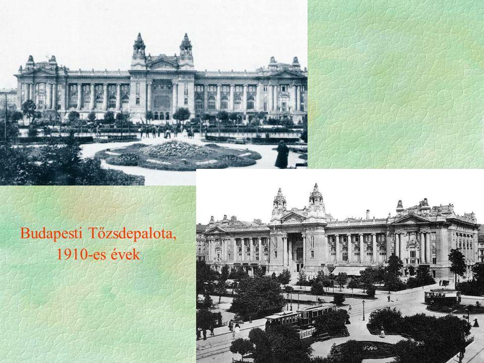 Budapesti Tőzsdepalota, 1910-es évek