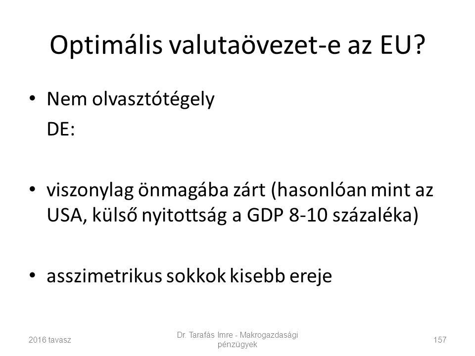 Optimális valutaövezet-e az EU.