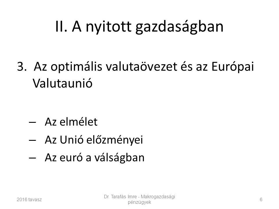 II.A nyitott gazdaságban 3.