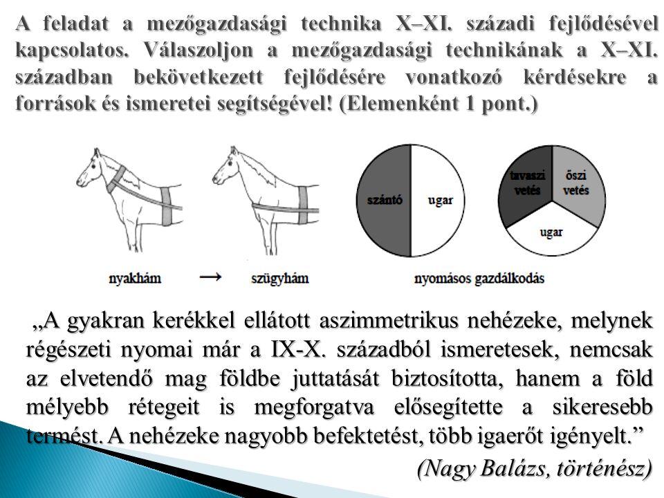 """""""A gyakran kerékkel ellátott aszimmetrikus nehézeke, melynek régészeti nyomai már a IX-X."""