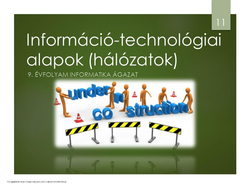 Információ-technológiai alapok (hálózatok) 9.