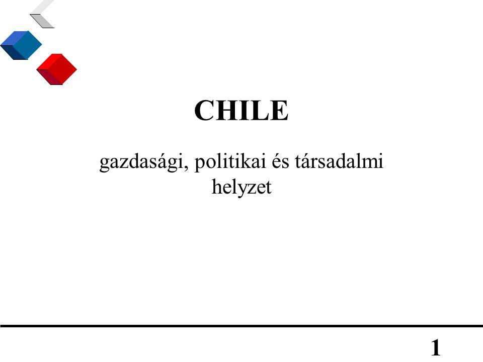 1 CHILE gazdasági, politikai és társadalmi helyzet