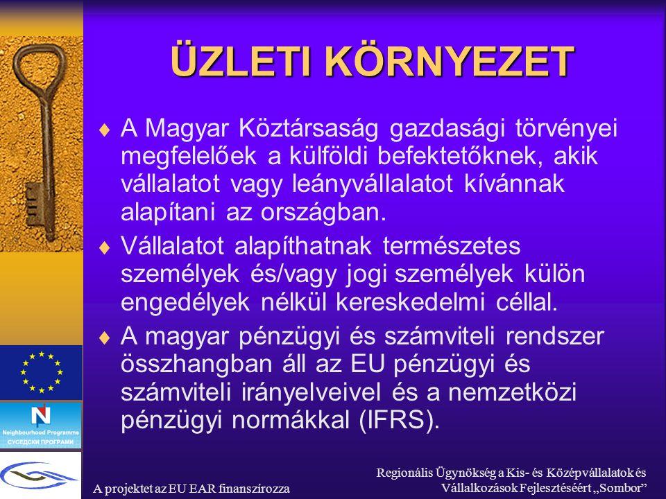 """A projektet az EU EAR finanszírozza Regionális Ügynökség a Kis- és Középvállalatok és Vállalkozások Fejlesztéséért """"Sombor ADÓRENDSZER  Azok a jogi személyek, melyeknek székhelye vagy menedzsmentje Magyarországon van, kötelesek adót fizetni a teljes jövedelemre, de az adókötelezettségük csak a Magyarországon megvalósított jövedelemre terjed ki."""