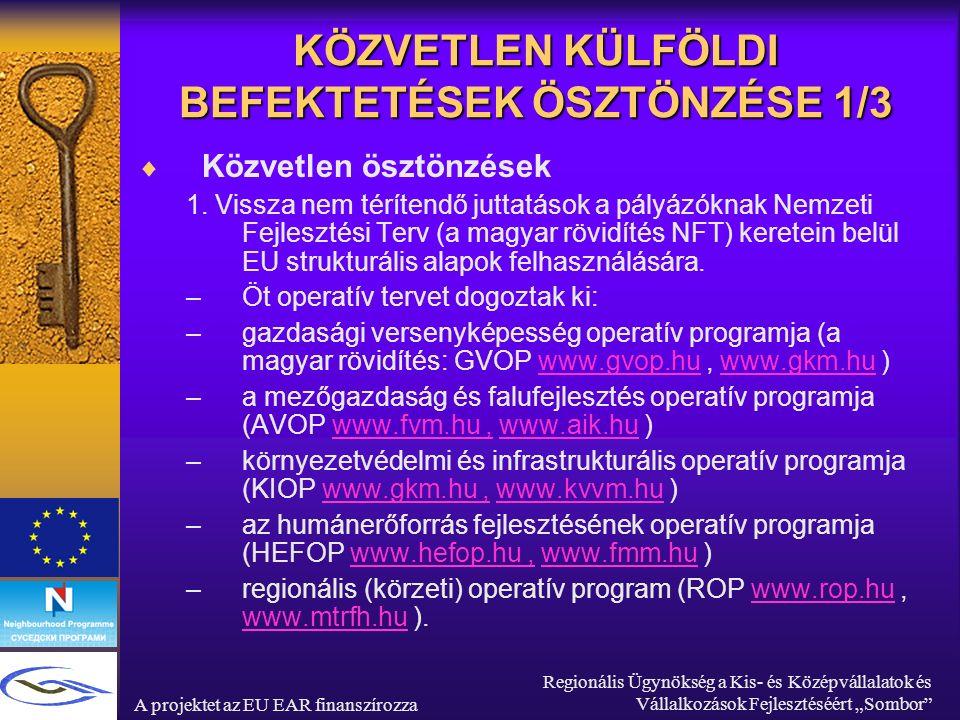 """A projektet az EU EAR finanszírozza Regionális Ügynökség a Kis- és Középvállalatok és Vállalkozások Fejlesztéséért """"Sombor II BAJAI FEJLESZTÉSI PROJEKTEK A térség komparatív előnyei:  Baja közel van azon szerb és horvát területekhez melyeken főleg magyarok laknak, az EU határán, két jelentős befektetéssel az európai mobilitás elősegítésére: M6-os autóút és a Duna folyó."""