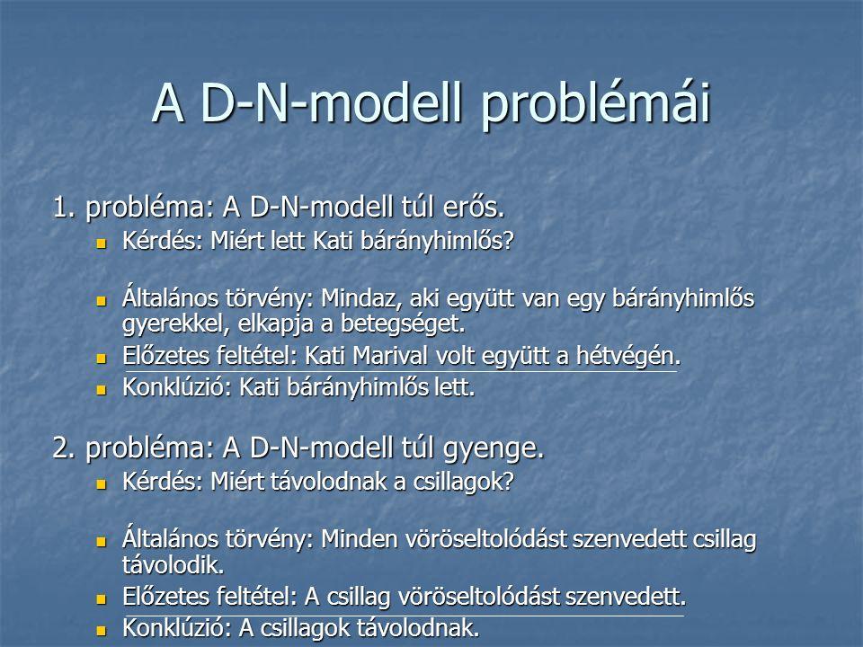 A D-N-modell problémái 1. probléma: A D-N-modell túl erős.