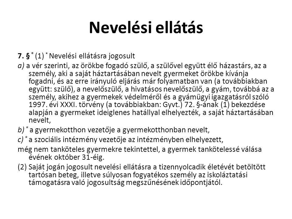 Nevelési ellátás 7.