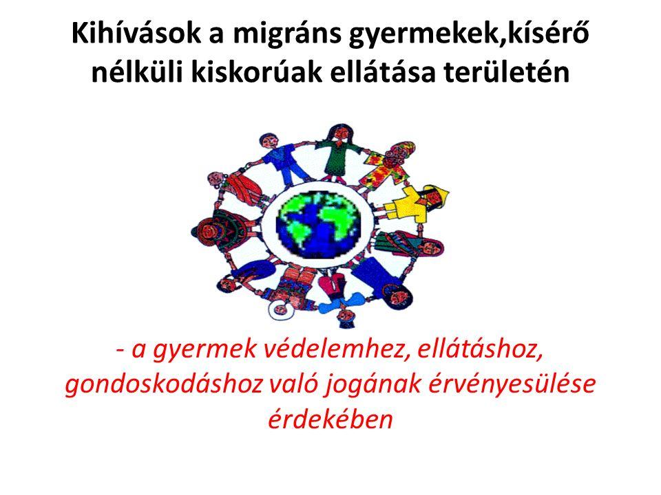 Kihívások a migráns gyermekek,kísérő nélküli kiskorúak ellátása területén - a gyermek védelemhez, ellátáshoz, gondoskodáshoz való jogának érvényesülése érdekében