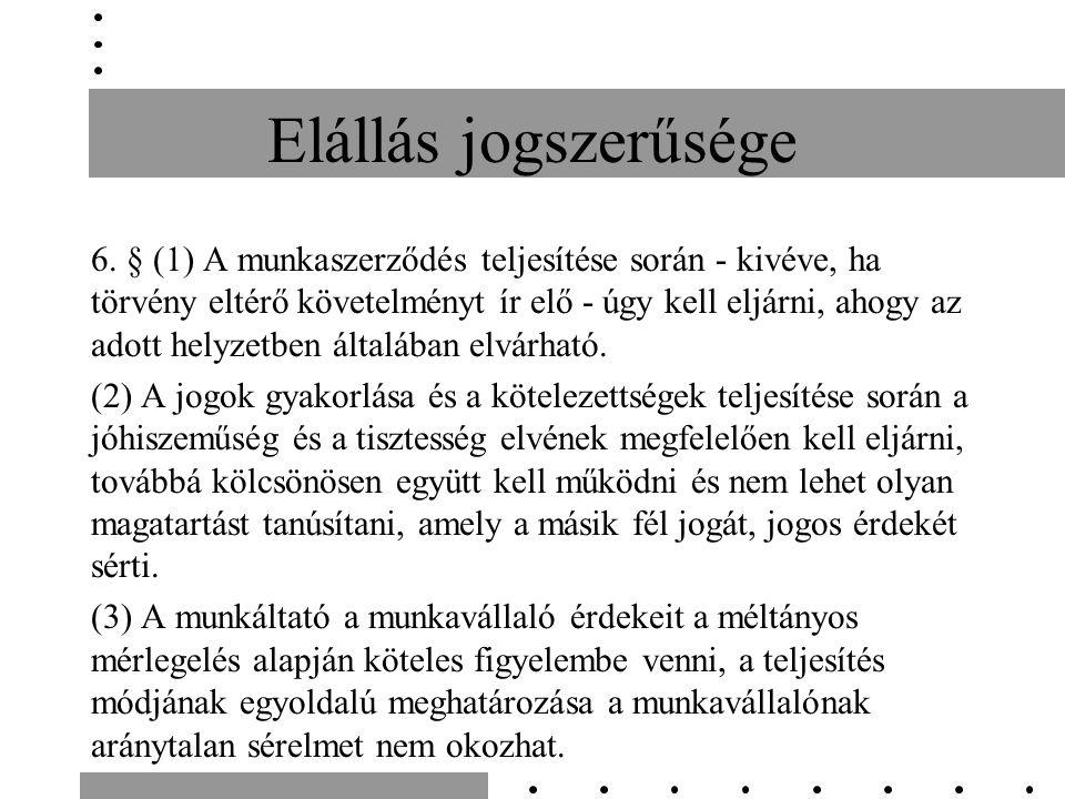 Elállás jogszerűsége 6.