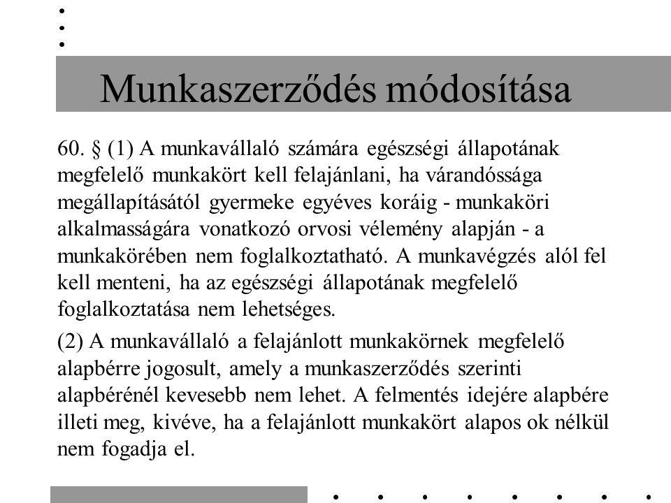 Munkaszerződés módosítása 60.