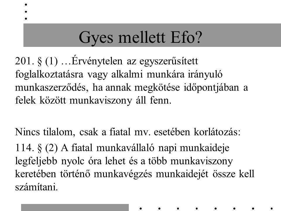 Gyes mellett Efo. 201.