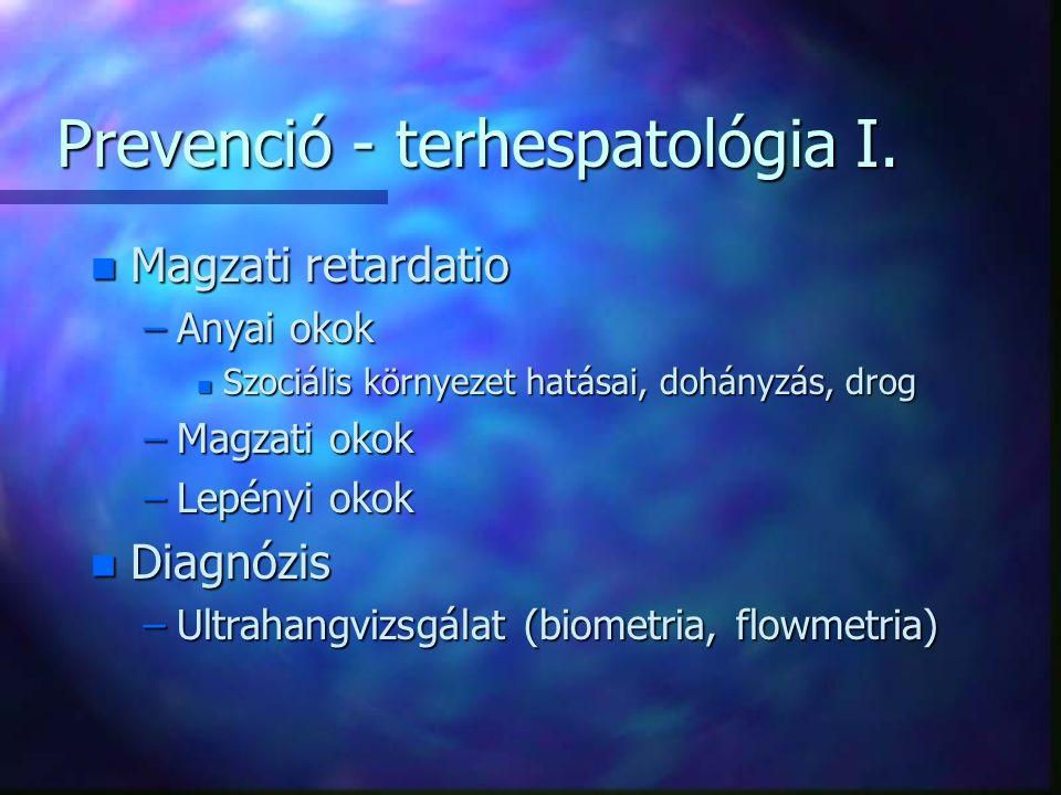 Prevenció - terhespatológia I.