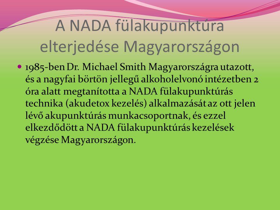 A NADA fülakupunktúra elterjedése Magyarországon 1985-ben Dr.
