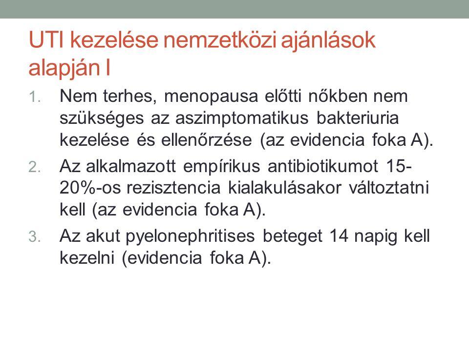 UTI kezelése nemzetközi ajánlások alapján I 1.