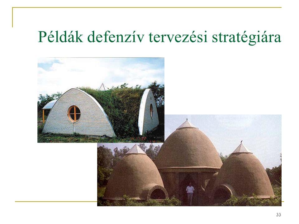 33 Példák defenzív tervezési stratégiára