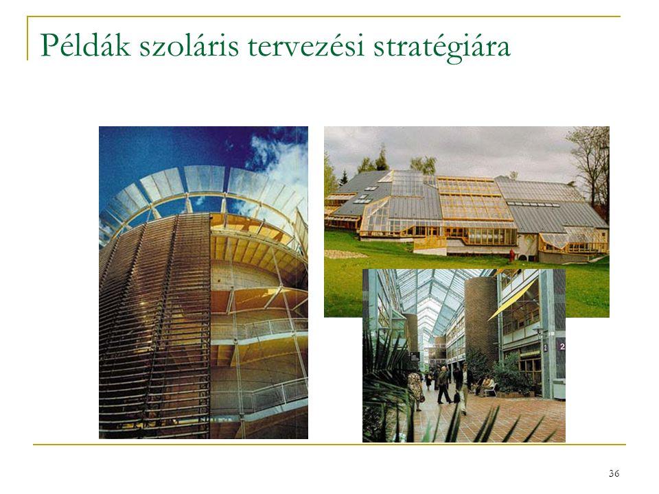 36 Példák szoláris tervezési stratégiára