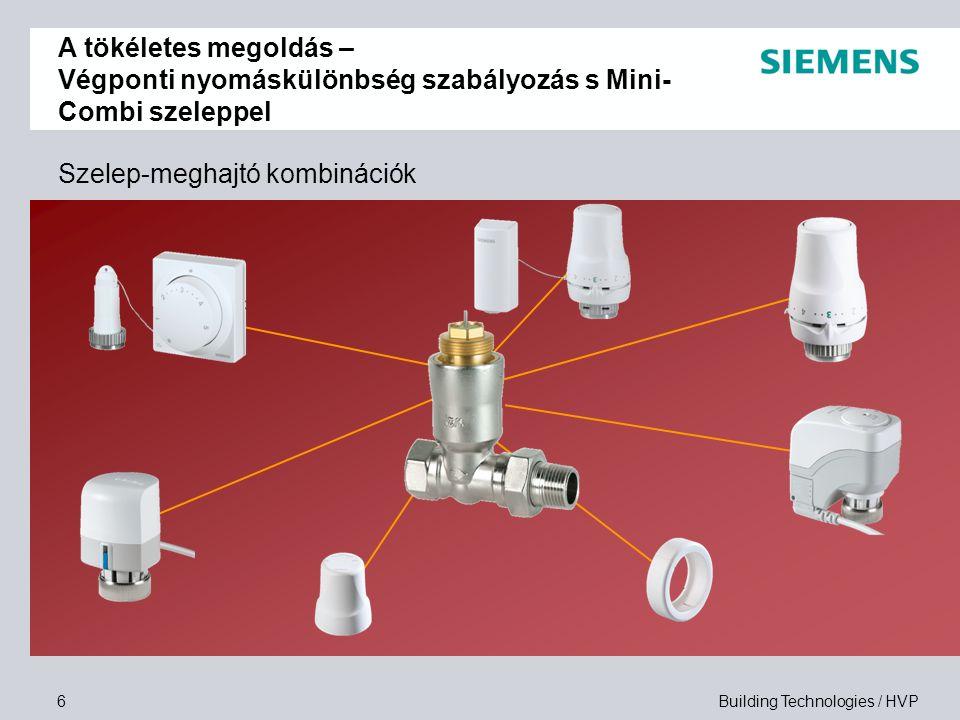 Building Technologies / HVP7 Hogyan épül fel a MC szelep.