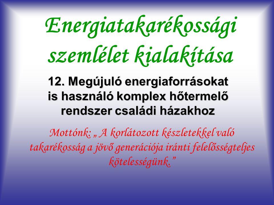 Energiatakarékossági szemlélet kialakítása 12.