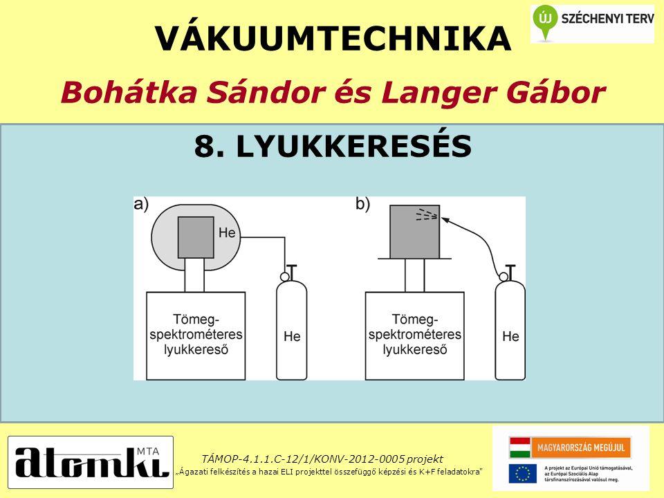 VÁKUUMTECHNIKA Bohátka Sándor és Langer Gábor 8.