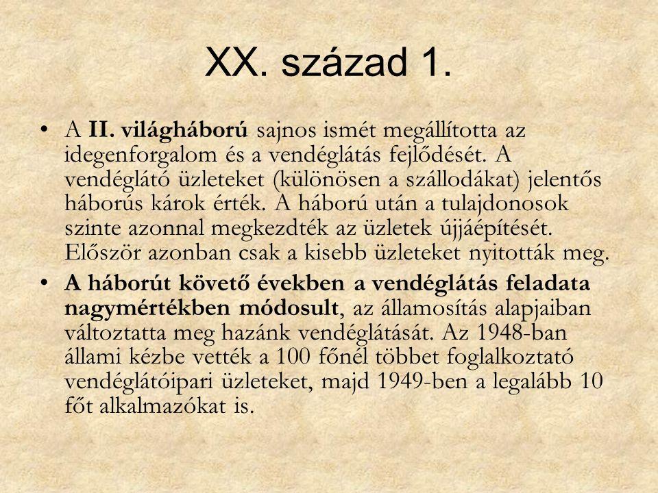 XX. század 1. A II.