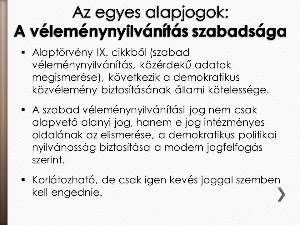  Alaptörvény IX.