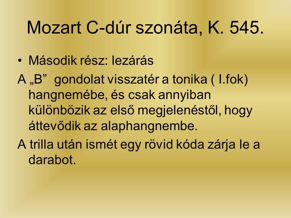 Mozart C-dúr szonáta, K. 545.