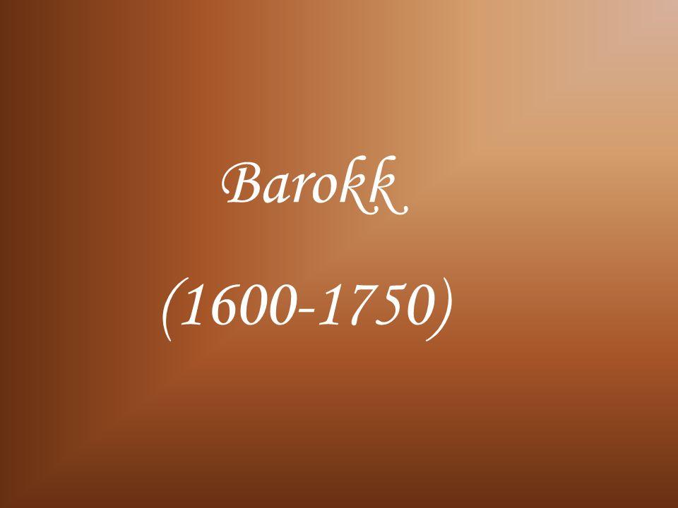 Barokk (1600-1750)