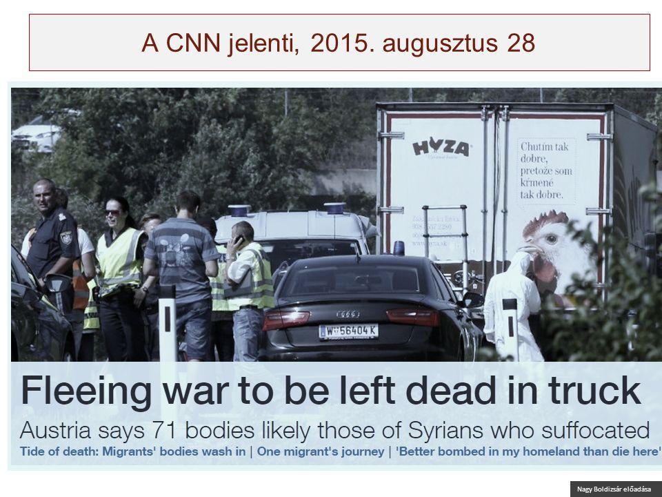 Nagy Boldizsár előadása A CNN jelenti, 2015. augusztus 28