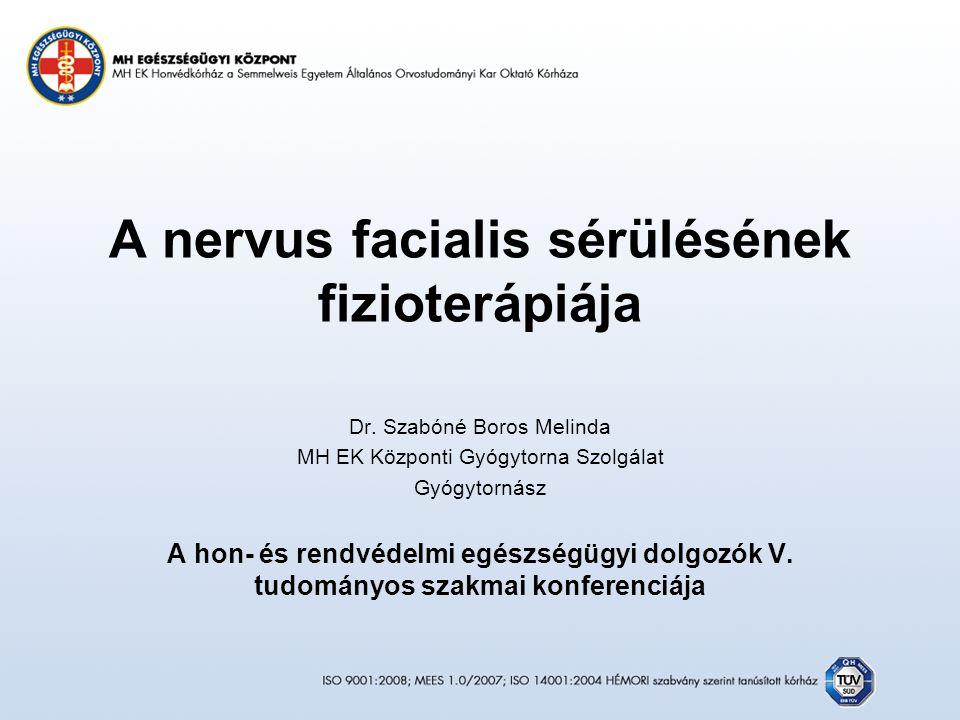 A nervus facialis sérülésének fizioterápiája Dr.