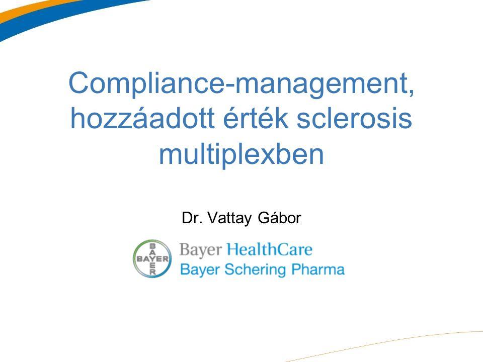 Compliance-management, hozzáadott érték sclerosis multiplexben Dr. Vattay Gábor