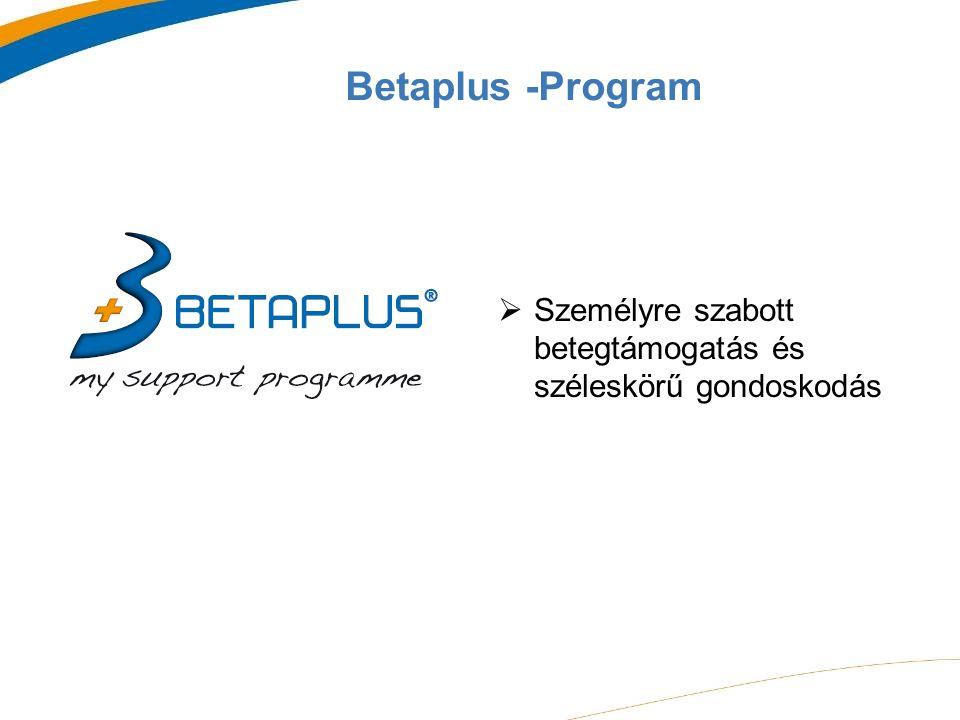 Betaplus -Program  Személyre szabott betegtámogatás és széleskörű gondoskodás