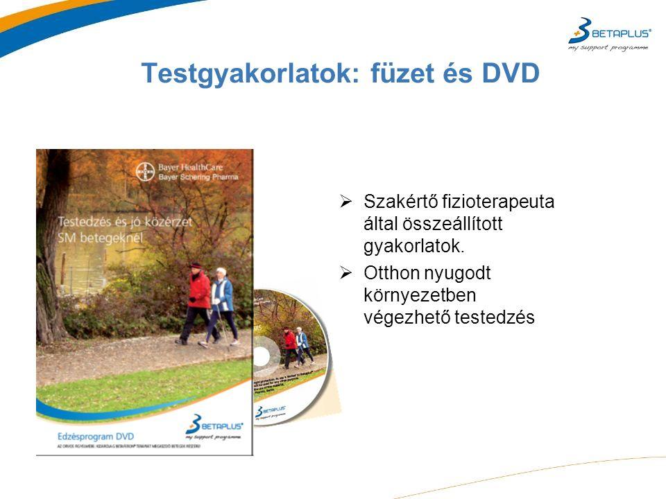 Testgyakorlatok: füzet és DVD  Szakértő fizioterapeuta által összeállított gyakorlatok.