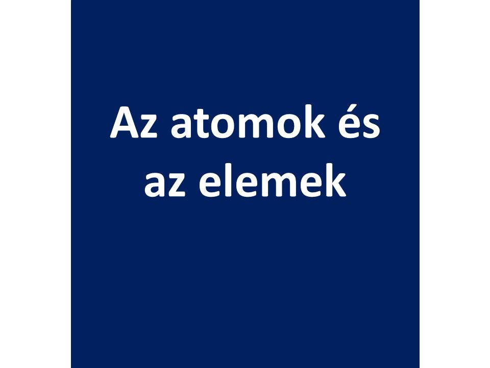 Az atomok és az elemek