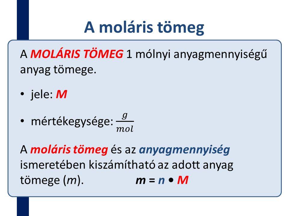 A moláris tömeg