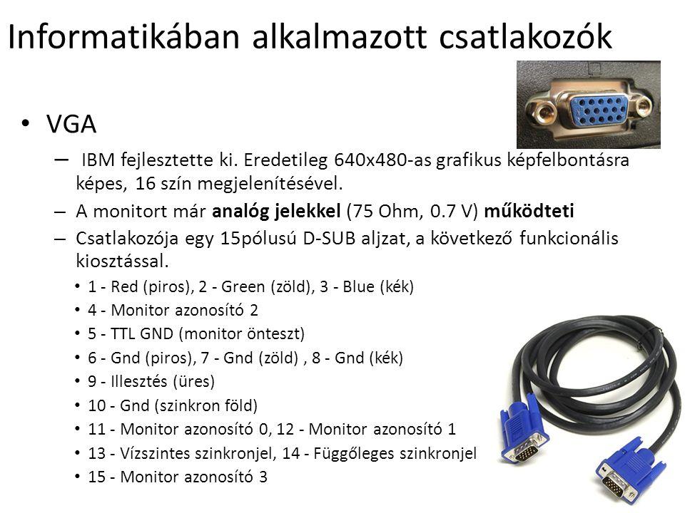 DVI (Digital Video/Visual Interface) Digitális vizuális/video illesztő – alkalmas Plazma, LCD TV és HDTV csatlakoztatásához is.