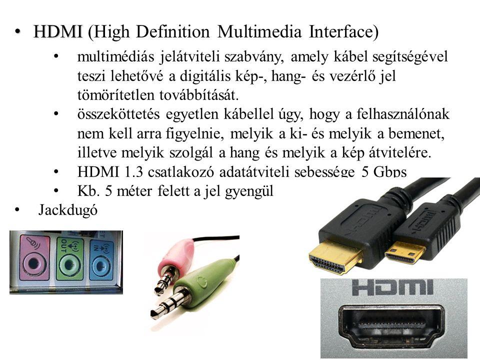 DisplayPort A technológiát a a Video Electronics Standards Association (VESA) felügyeli nagyobb felbontást és színszámot, magasabb frissítési frekvenciát és kevesebb kábellel megvalósítható csatlakoztatást biztosít A DisplayPort 1.2 maximum 3820x2400 pixeles felbontást támogat 60 Hz-es képfrissítéssel, vagy 2560x1600 pixeles felbontást 120 Hz-es képfrissítés mellett