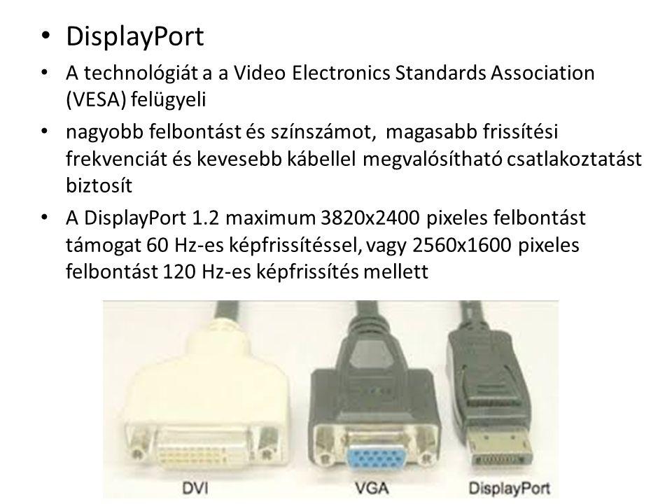 Párhuzamos Port / LPT ( Párhuzamos Port / LPT (Linear Print Terminal, Lineáris Nyomtató Terminál) Egy LPT portnak vagy 8 adatbitje, 4 kontroll bitje (Strobe, Linefeed, Initialize, Select In) és öt további 5 bemeneti kontroll bitje, amiket a nyomtató küld a gép felé (ACK, Busy, Select, Error, Paper out).