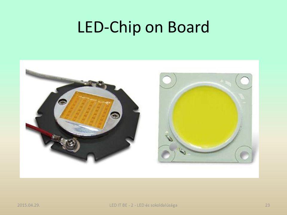LED-Chip on Board 2015.04.29.23LED IT BE - 2 - LED és sokoldalúsága