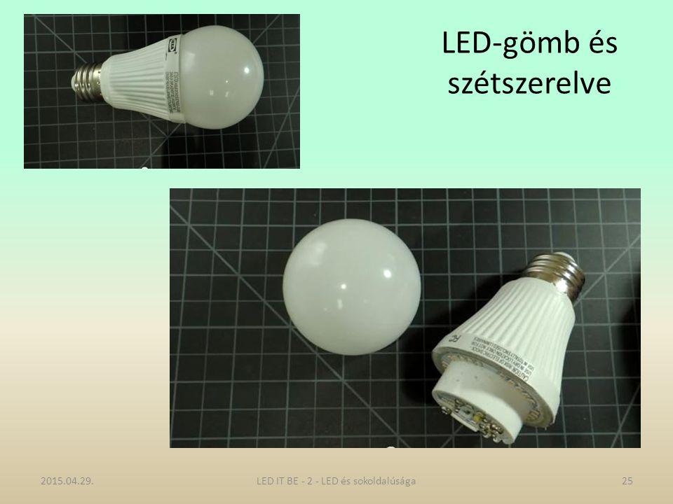 LED-gömb és szétszerelve 2015.04.29.LED IT BE - 2 - LED és sokoldalúsága25