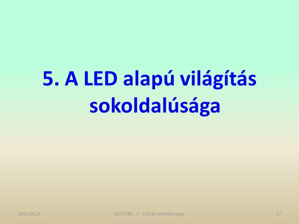 5. A LED alapú világítás sokoldalúsága 2015.04.29.27LED IT BE - 2 - LED és sokoldalúsága