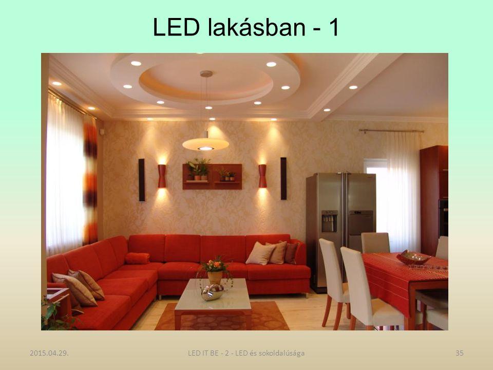 LED lakásban - 1 2015.04.29.35LED IT BE - 2 - LED és sokoldalúsága