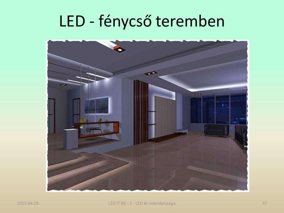 LED - fénycső teremben 2015.04.29.37LED IT BE - 2 - LED és sokoldalúsága